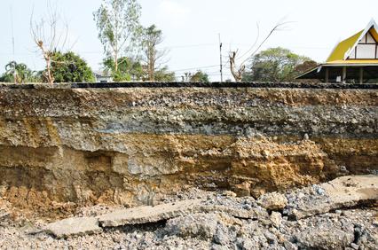 usługi geologiczne - przekrój gruntu