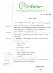 Referencje Geoprojekt